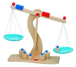 Wooden Balance Scales - traditional toys & games