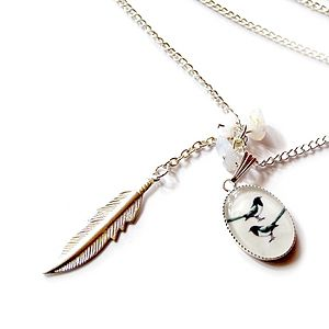 'Two For Joy' Magpie Necklace