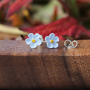 Single Forget Me Not Earrings - earrings