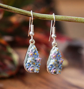 Forget Me Not Drop Earring