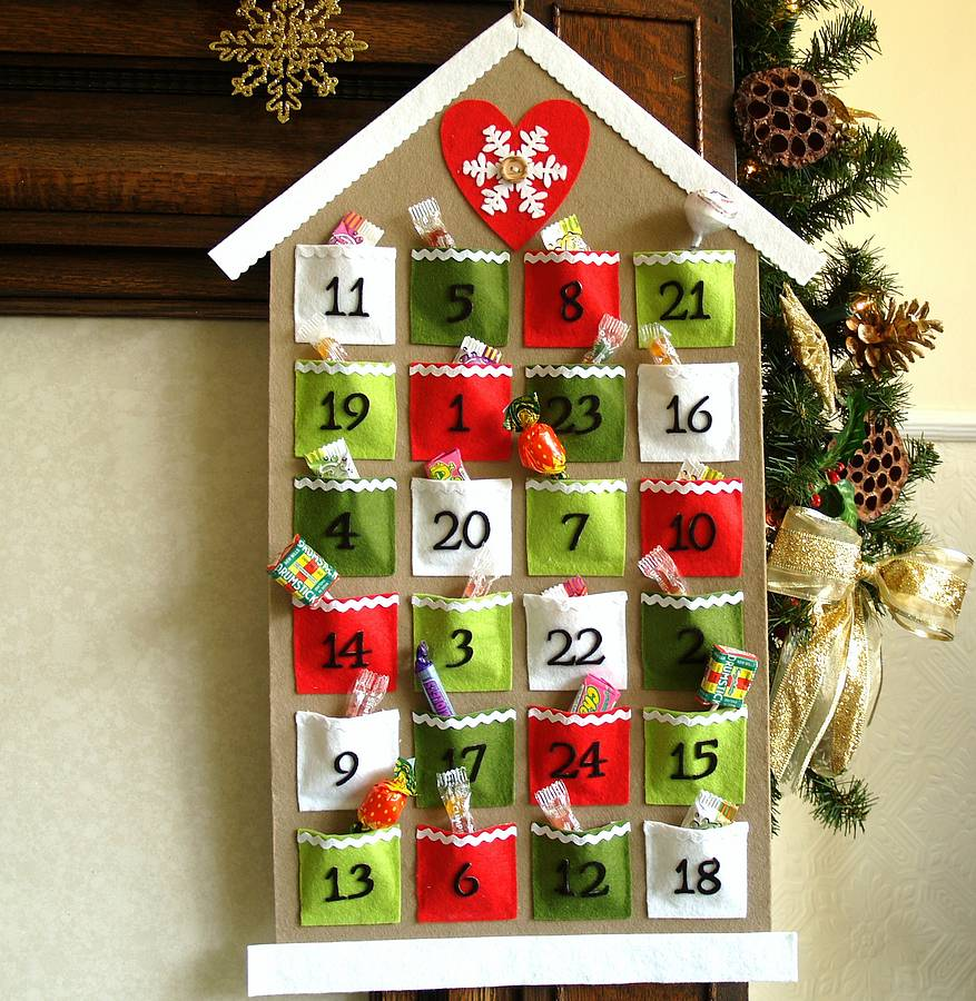 Advent Calendar Homemade : Handmade felt advent calendar by thoughts of you