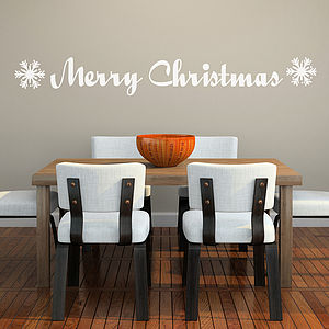 Merry Christmas Wall Sticker - christmas home