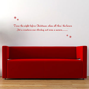 Twas The Night Before Christmas Wall Sticker - christmas home