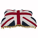 'Percy' Union Jack Cable Knit Cushion