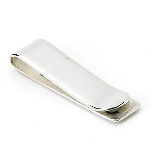 Sterling Silver Money Clip - wedding thank you gifts