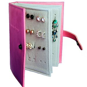 The Little Book Of Earrings - Six Colours - jewellery storage & trinket boxes