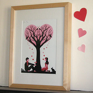 'Tree Of Love' Wedding, Engagement Print