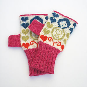Mini Dolls Knitted Hand Warmers - hats, scarves & gloves