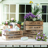 Personalised Small Planter Crate - garden