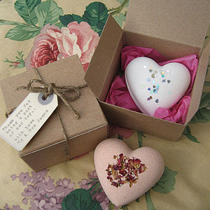 Handmade Love Heart Bath Bomb - bath & body