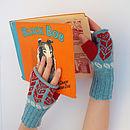 Knitted Fairisle Hand Warmers