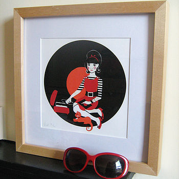 60's Limited Edition Print Orange Red