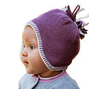 fleece baby hat in heather