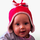fleece baby hat in red