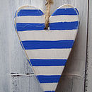 stripy heart_royal blue