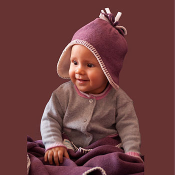 heather fleece hat & blanket set