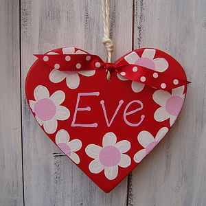 Personalised Daisy Hanging Heart - gifts for babies