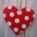 spotty heart_cherry red