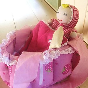 Baby Doll With Carry Cot Cradle - soft toys & dolls
