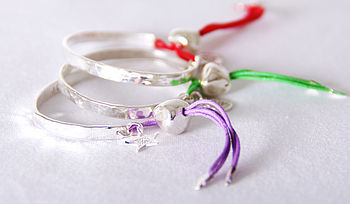 'Love Peace Joy' Silver Friendship Bracelets