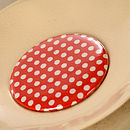 Coco red with white polka dots