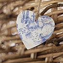 Willow Print Heart