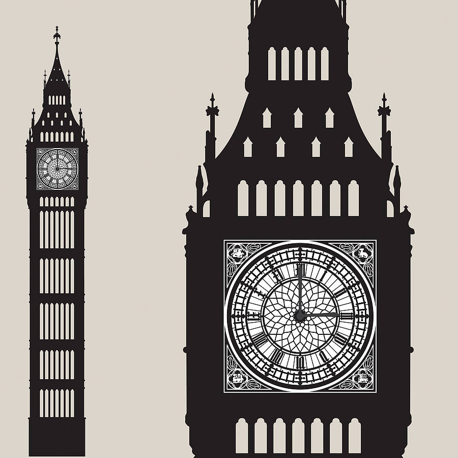 Big Ben Wall Sticker Clock By Funky Little Darlings