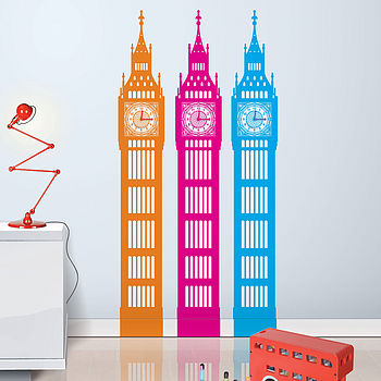 Big Little Ben Wall Sticker Working Clock