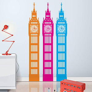 Big Little Ben Wall Sticker Clock - decorative accessories