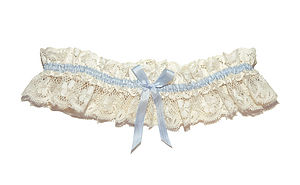 Tianna Vintage Lace Something Blue Wedding Garter - bridal lingerie