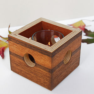Mitred Ply Box Tea Light Holder
