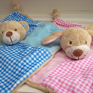 Personalised Baby Comforter Blanket Toy - toys & games