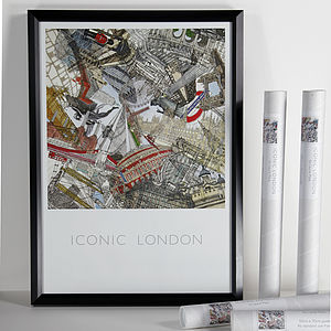 'Iconic London' Art Poster
