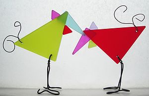 Pair Of Wild Fowl Decorations