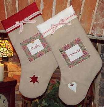 Linen And Liberty Print Stocking
