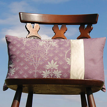 Organic Patchwork Cushion