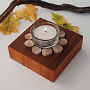 Driftwood ring candle top