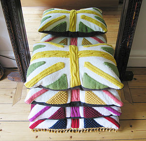 'Percy' Union Jack Cable Knit Cushion - cushions