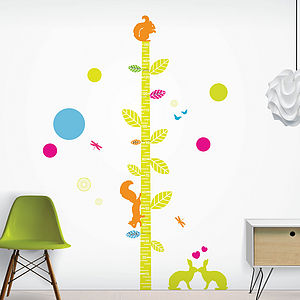 Woodland Friends Height Chart - wall stickers