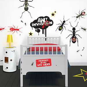 Soldier Ants Giant Wall Stickers - painting & decorating