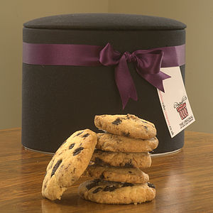 Executive Black Hat Box Cookies - cakes & sweet treats