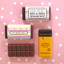 Pack Of 50 Personalised Chocolate Wrappers
