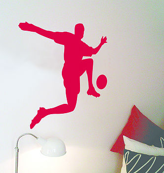 Footballer wall sticker
