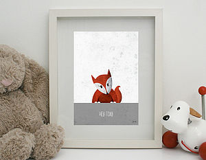 'Hey Foxy' Print Unframed - canvas prints & art