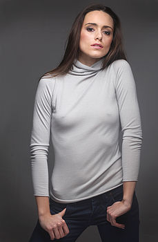Cashmere Roll Neck Jumper (dove grey)