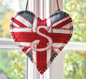 Personalised Union Jack Lavender Filled Heart