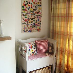 Folksy Applique Wallhanging - baby's room