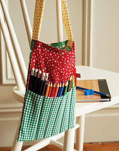 Patterned Cotton Bag With Pencils - toys & games