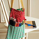 Patterned Cotton Bag With Pencils