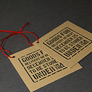 Pack Of Five Christmas Present Tags